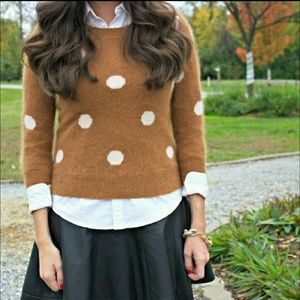 Madewell // polka dot rabbit hair sweater